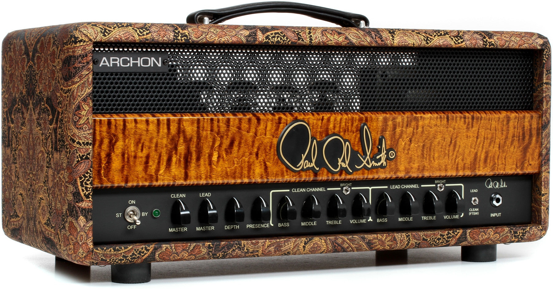 PRS Archon 100-watt Tube Head - Paisley and Black Gold PRS - HIENDGUITAR.COM