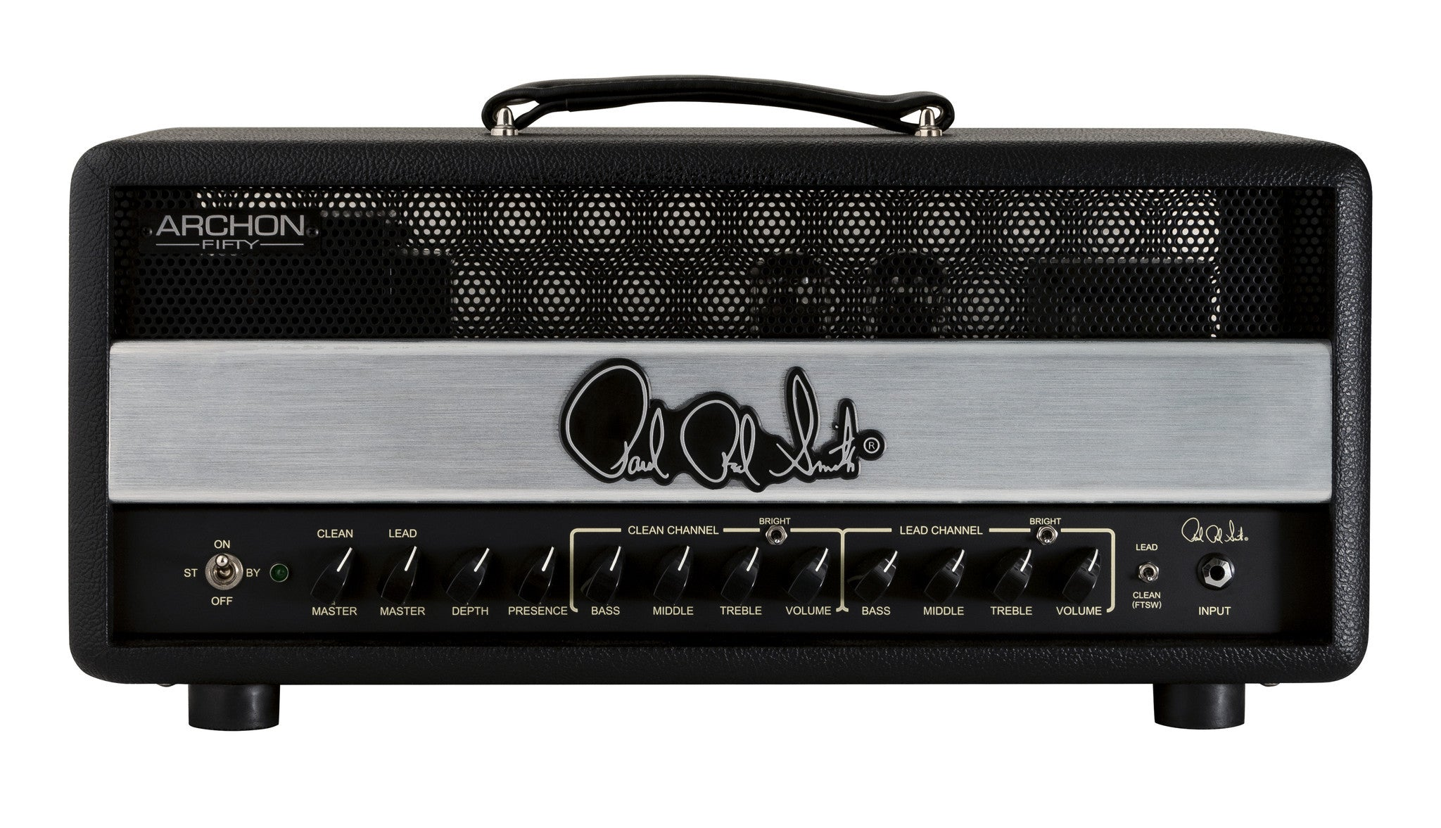 PRS Archon Two Channel 50/25-Watt Tube Head - Stealth Black PRS - HIENDGUITAR.COM