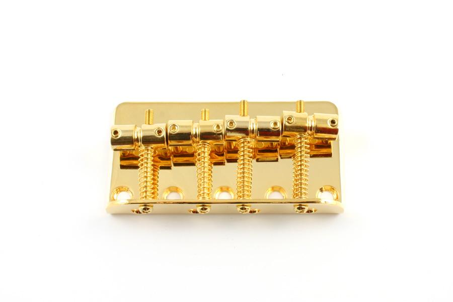 BB-0310 Bridge for Precision and Jazz Bass® HANCHANG CO., LTD. Gold - HIENDGUITAR.COM