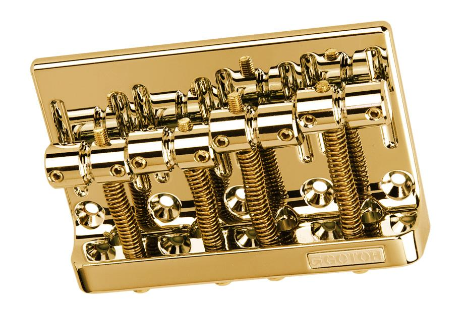 BB-0356 Gotoh 4-String Bass Bridge KMS SHOKAI CO., LTD. Gold - HIENDGUITAR.COM