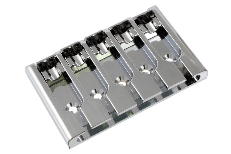 BB-3431 5-String Lock-down Bass Bridge BOOHEUNG PRECISION CO., LTD Chrome - HIENDGUITAR.COM