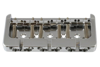 BB-3455 Hipshot B-style 6-String Bass Bridge HIPSHOT PRODUCTS Chrome - HIENDGUITAR.COM