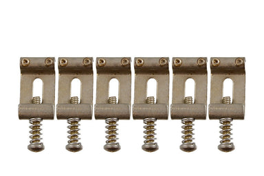 BP-0023 Vintage-style Bridge Saddles for Stratocaster® No vendor Aged Finish - HIENDGUITAR.COM