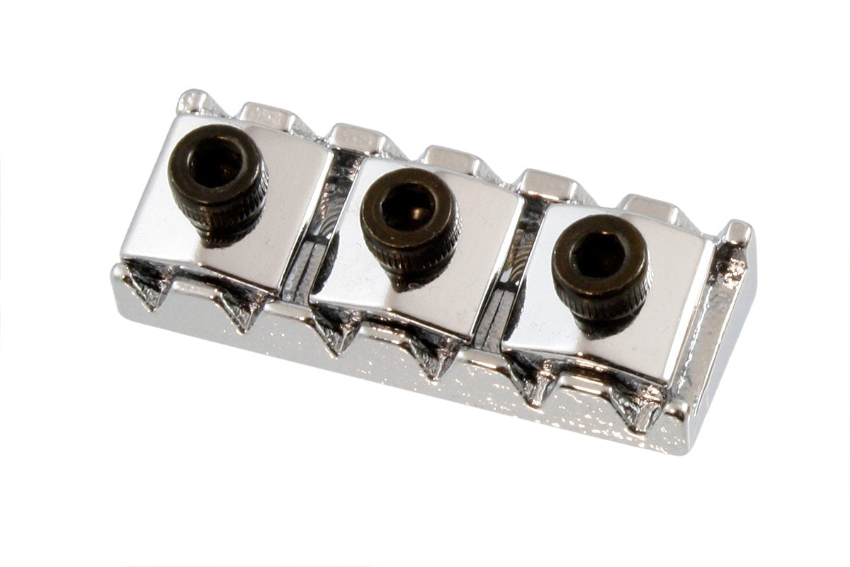 BP-0028 1-11/16 in. Locking Guitar Nut for Gibson® Floyd Rose® WIKIM Chrome / Standard - HIENDGUITAR.COM