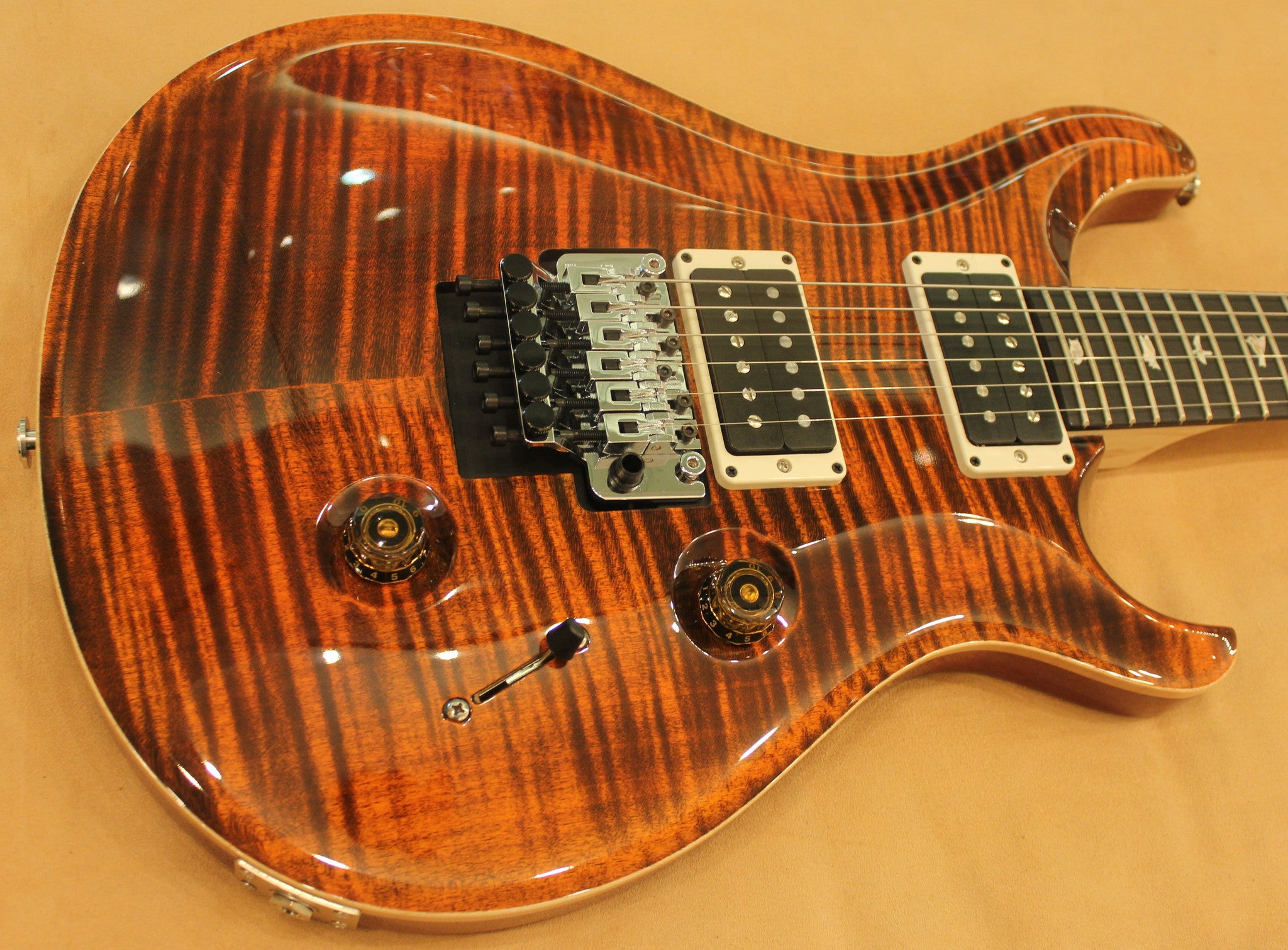 prs-floyd-custom-24-orange-tiger-sn-214136 indonesia