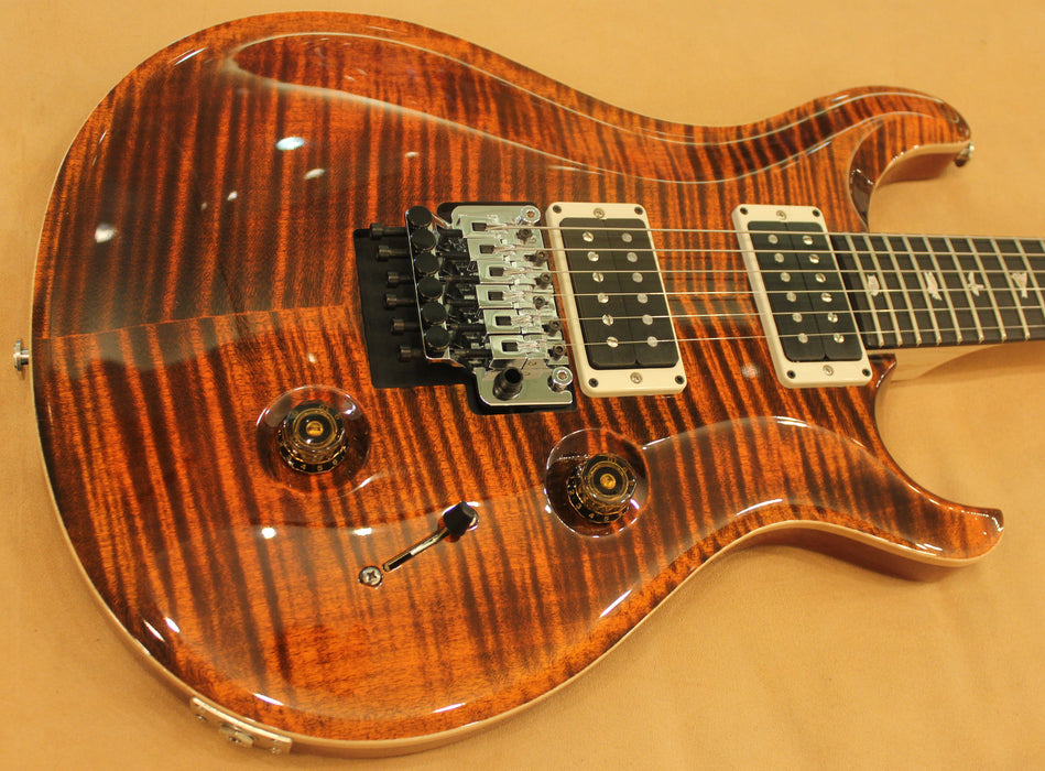 "PRS ""FLOYD"" CUSTOM 24 ORANGE TIGER sn 214136 - HIENDGUITAR.COM"