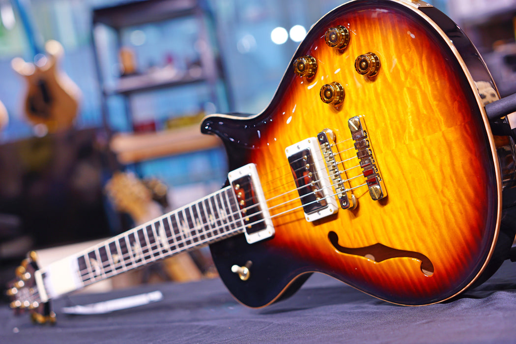 PRS McCarty 594 Singlecut Semi-Hollow 10-Top Limited Edition Tri Color Burst 190272256 - HIENDGUITAR.COM