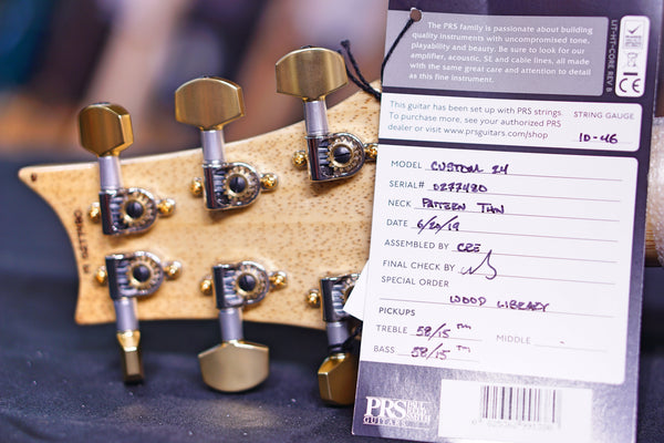 PRS Custom 24 burnt maple leaf Hiend spec 19 0277480