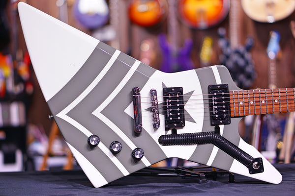Gibson Jason Hook M-4 Sherman Explorer Alpine White w/ Army Green Stripes DSJHEGCH1
