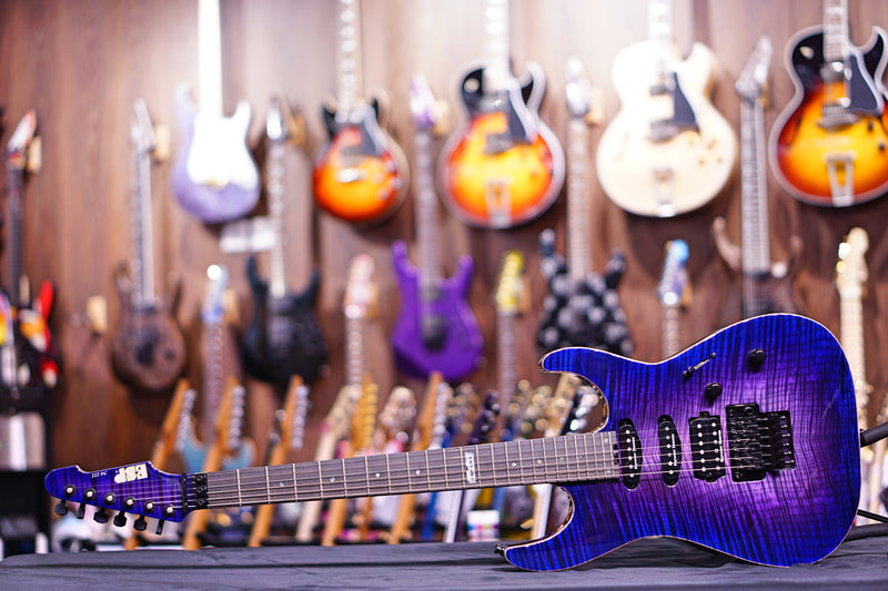 ESP USA M-III Blue burst