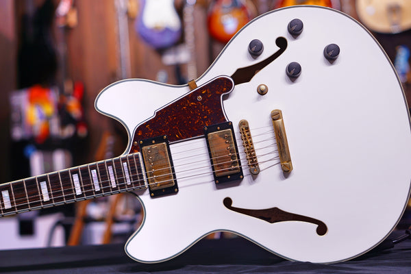 dangelico DOUBLE CUTAWAY WHITE sn 6041