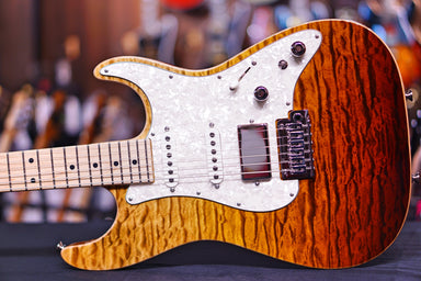 Anderson Drop top classic tiger eye surf quilt shorty 02-27-19P anderson - HIENDGUITAR.COM