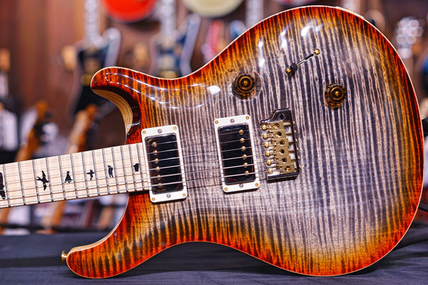PRS Custom 24 Burnt Maple Leaf One Piece Flame Top 190277926