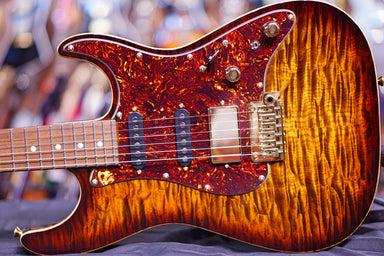 Anderson Drop Top Classic Shorty Tiger Eye Burst * 02-21-19A * Anderson - HIENDGUITAR.COM