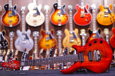 Ernie Ball Music Man John Petrucci Majesty 7-string - Red Sunrise M12232 Musicman - HIENDGUITAR.COM