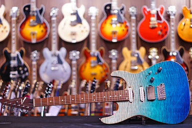 Tom Anderson Angel Bora Blue Surf with Binding & Case Anderson - HIENDGUITAR.COM