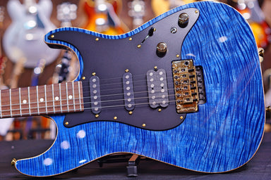 Tom Anderson Drop Top Classic Hollow Jack's Pacific Blue with Binding 06-20-19N HIENDGUITAR.COM - HIENDGUITAR.COM