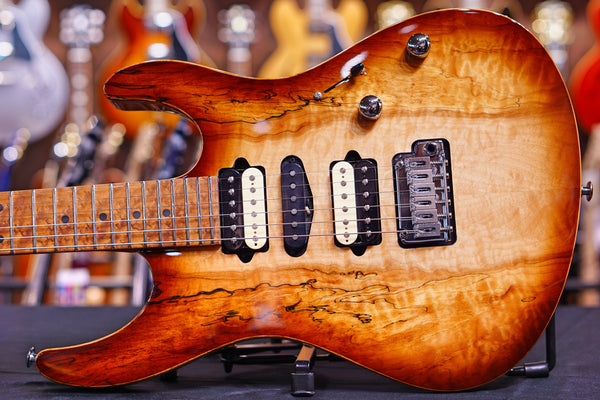 Suhr custom modern spalted maple brown burst JS7R4G