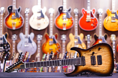 ESP E-II M-II 7 NT DARK BROWN NATURAL BURST ES7194183 - HIENDGUITAR.COM