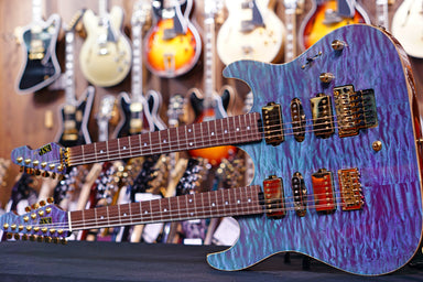 ESP Custom shop Hiend Spec Snapper CTM double Neck E5700191 & E6700191 - HIENDGUITAR.COM