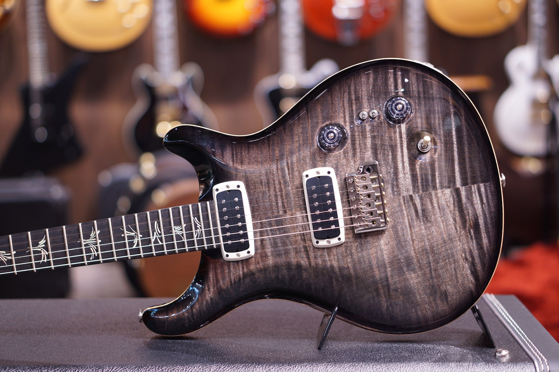 PRS Paul's Guitar w upgraded Katalox neck - Charcoal Burst PRS - HIENDGUITAR.COM