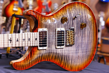 PRS Custom 24 wood library burnt maple leaf 10top 19 027796