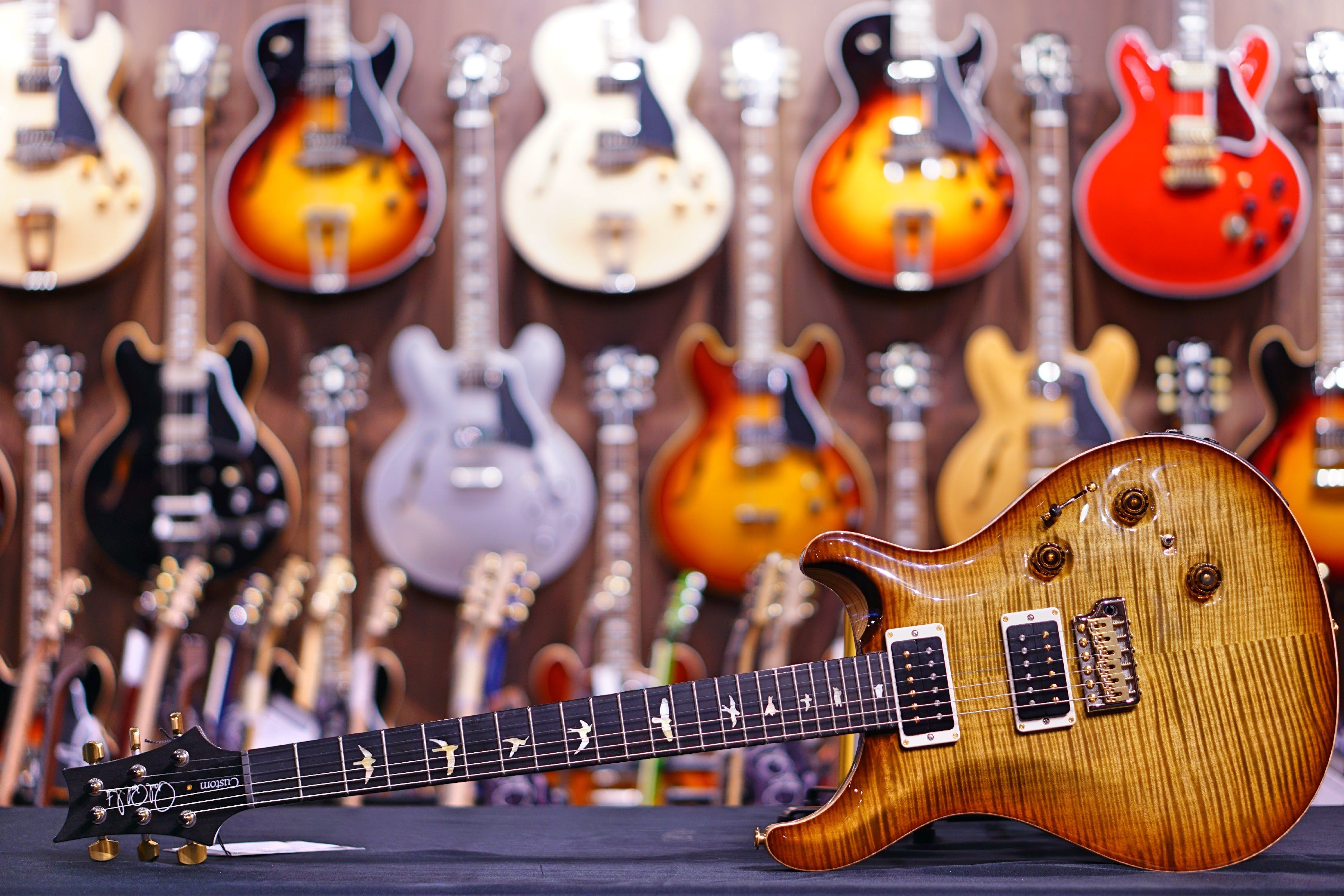 PRS Custom 24 piezo wood library Artist flame burnt almond 19 0277323 PRS - HIENDGUITAR.COM