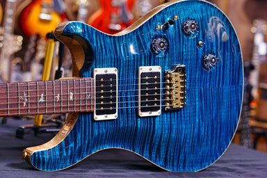 PRS Custom 24 piezo wood library aquamarine 10top 4255
