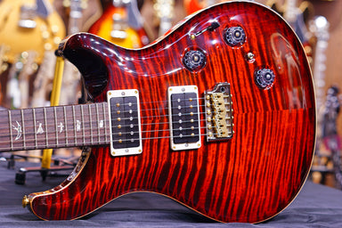 PRS Custom 24 piezo 10top fire red burst 0279726