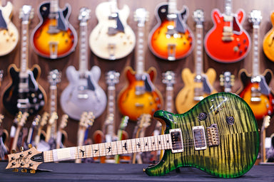 PRS Custom 24 wood library obsidian green burst 10Top 19 0278938 PRS - HIENDGUITAR.COM