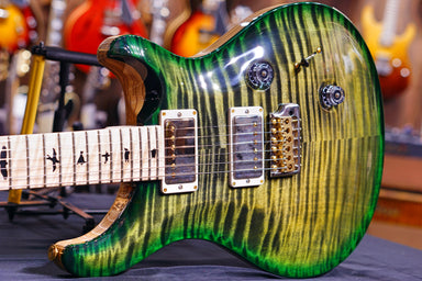 PRS Custom 24 wood library obsidian green burst 10Top 19 0278938