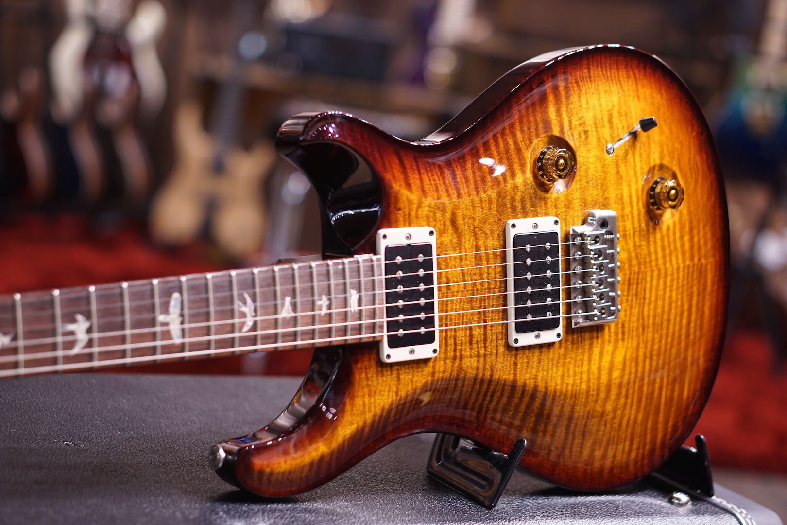 PRS CUSTOM 22 BLACK GOLD BURST fat neck sn 204261 PRS - HIENDGUITAR.COM