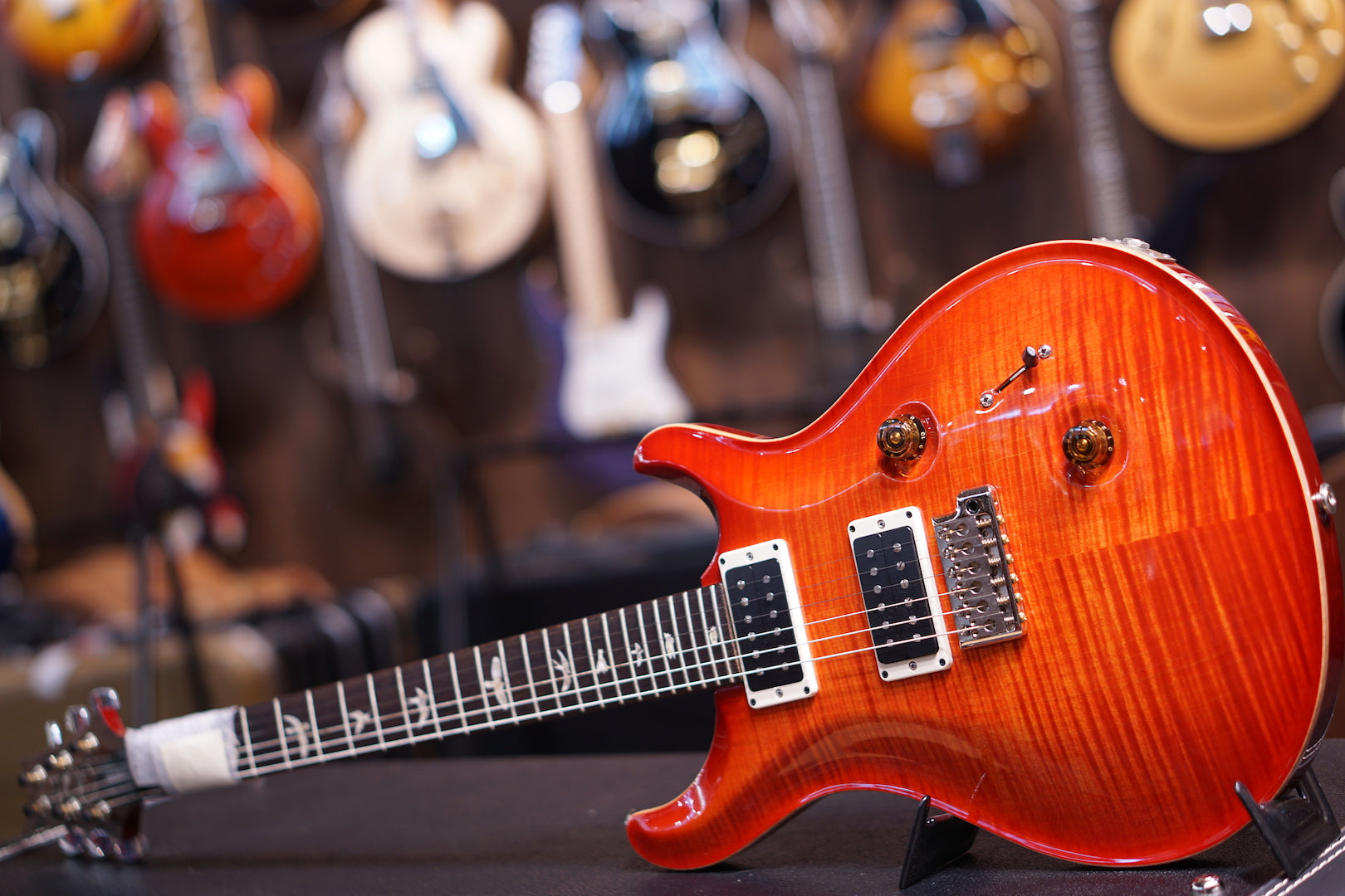 PRS Custom 24 10top BLOOD ORANGE Reg 213117