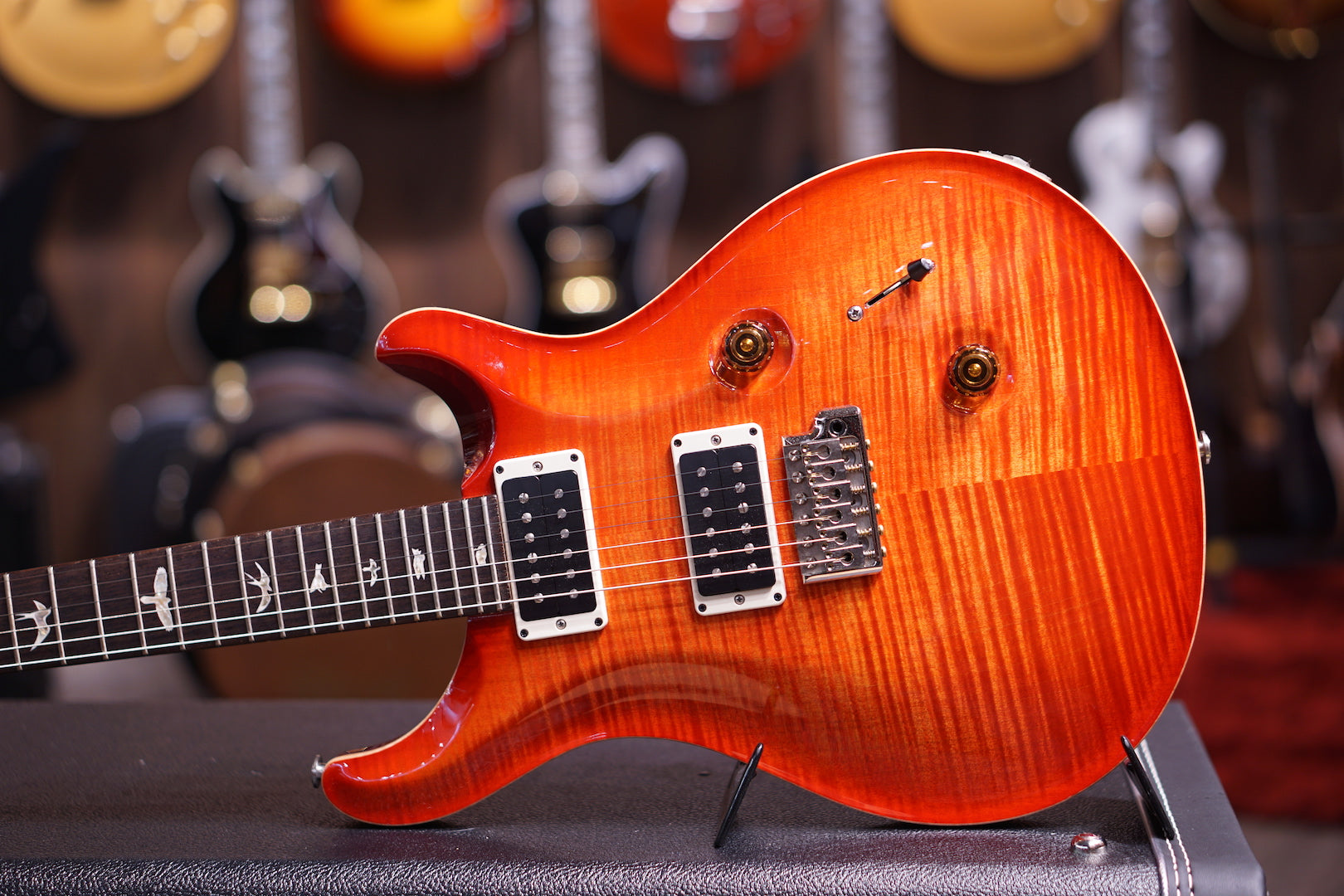 PRS Custom 24 10top BLOOD ORANGE Reg 213117 PRS - HIENDGUITAR.COM