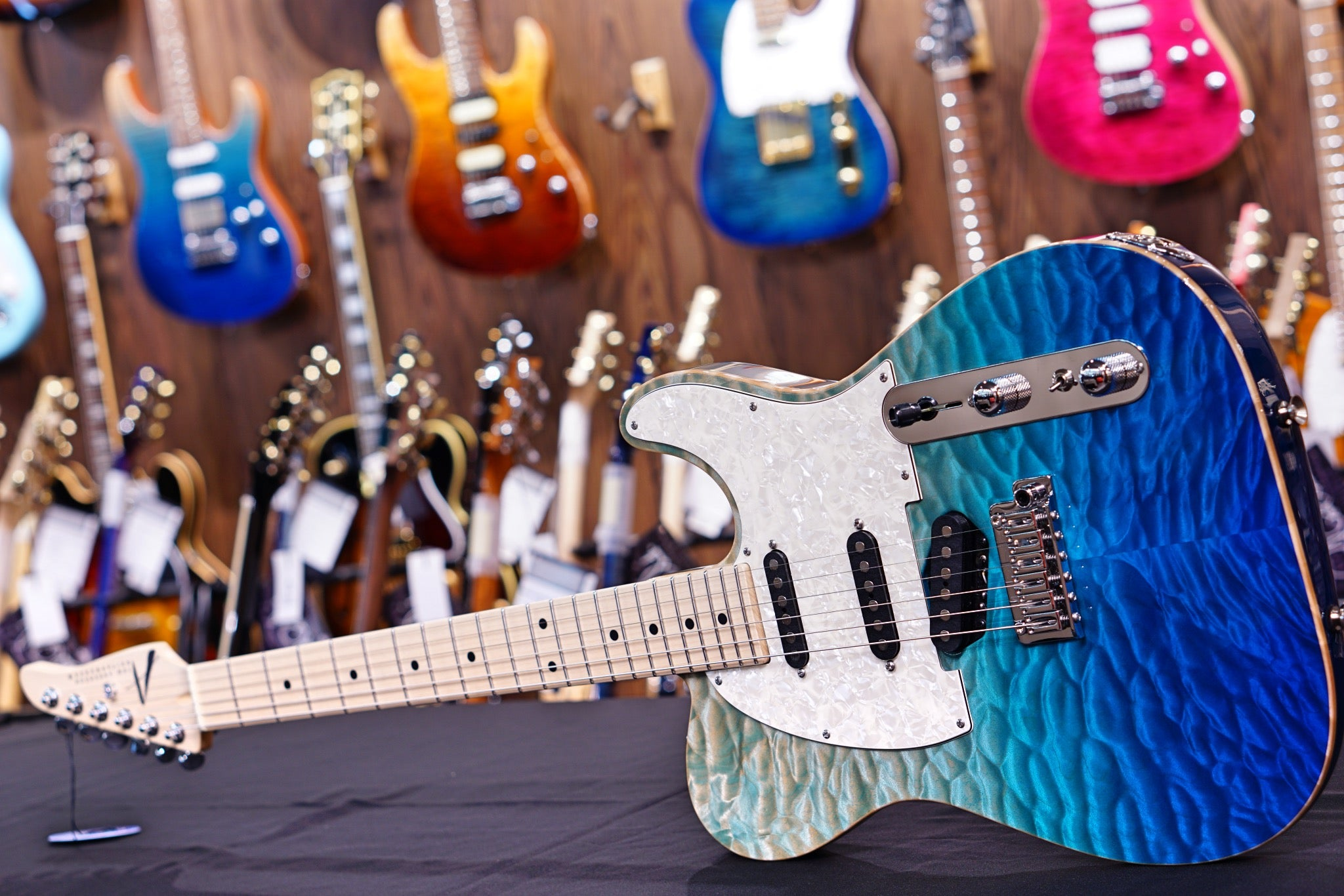 Anderson Top T Classic Shorty Hollow Bora Blue Surf 10-11-19P Anderson - HIENDGUITAR.COM