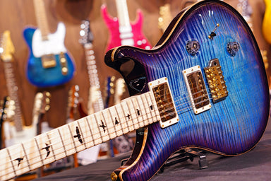 PRS Custom 24 hiend spec wood library Aquableux w/Purple Burst 19 0281253 PRS - HIENDGUITAR.COM