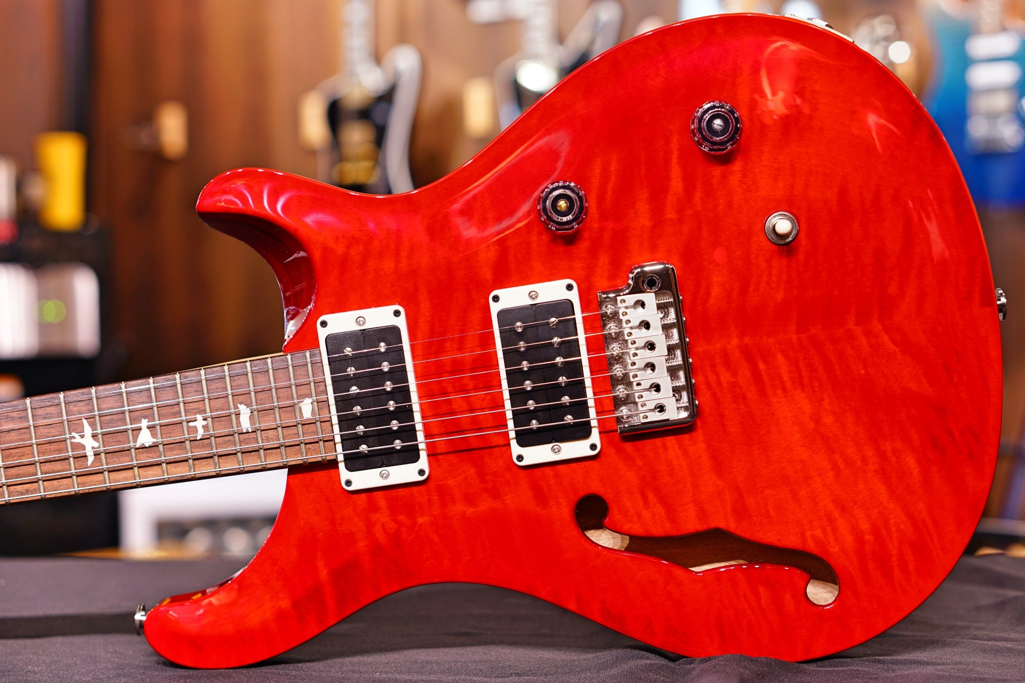 PRS CE24 Semi hollow scarlet red 0290687 PRS - HIENDGUITAR.COM