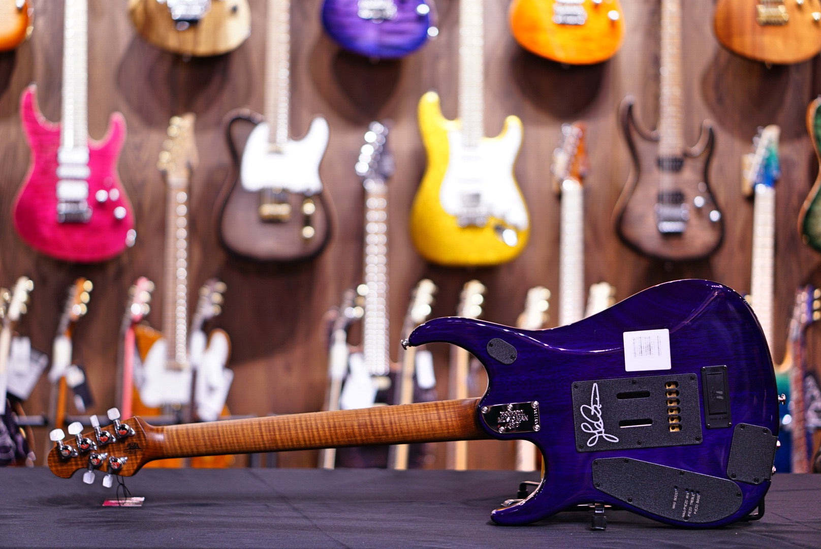Ernie Ball Music Man John Petrucci JP15 Purple Sunset Spalted Musicman - HIENDGUITAR.COM