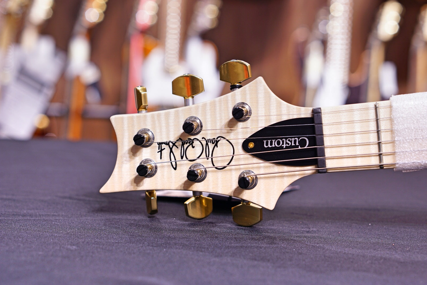 PRS Custom 24 Piezo Wood library burnt maple leaf 19 0290931 PRS - HIENDGUITAR.COM
