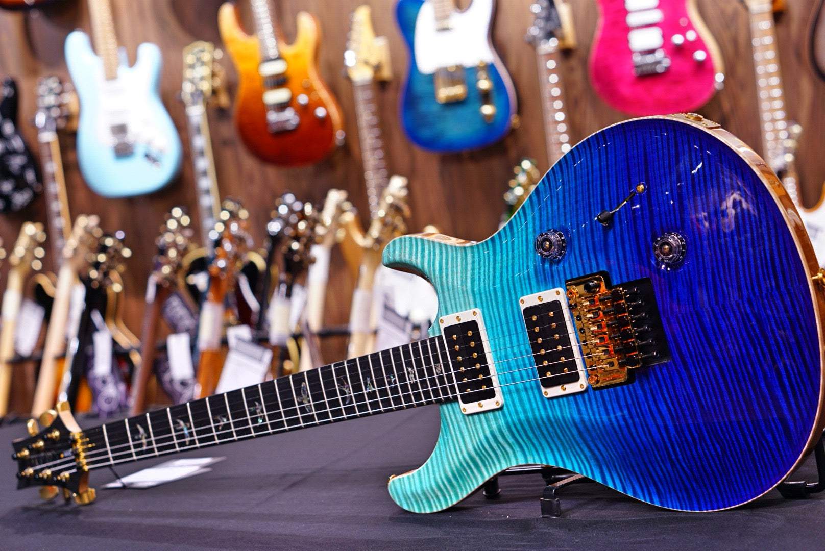 PRS Custom 24 Floyd Blue Fade Gold Package 20 0293263 PRS - HIENDGUITAR.COM