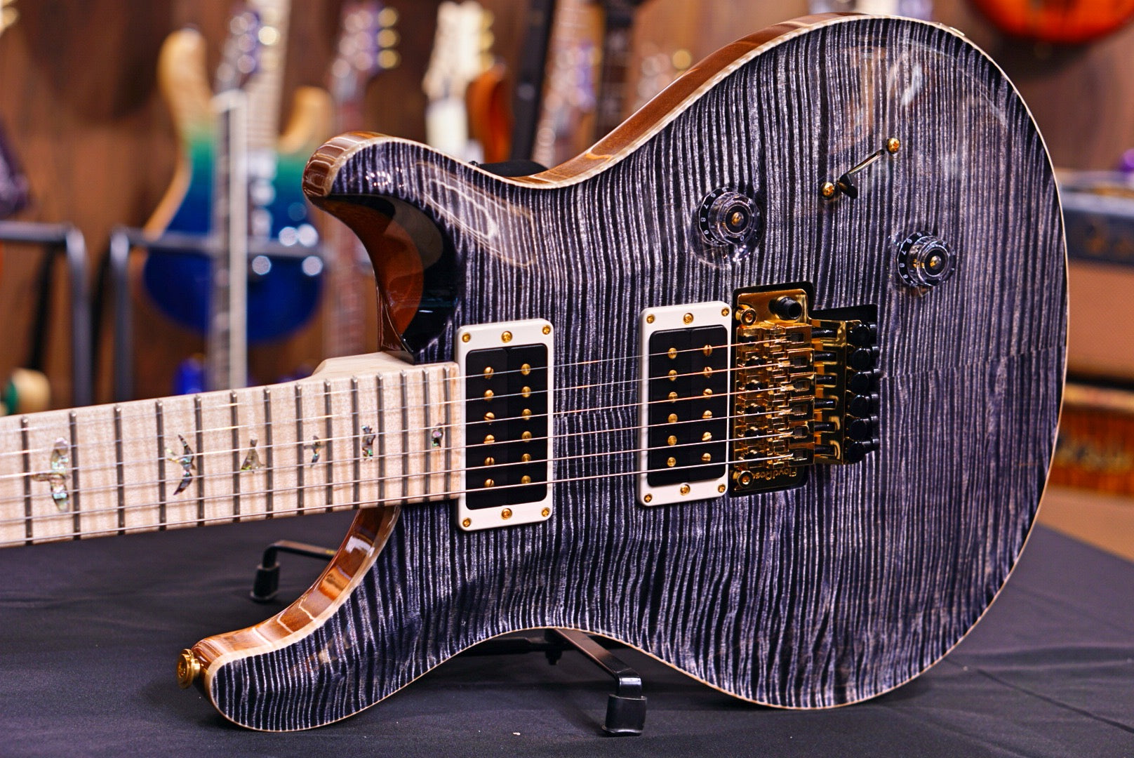 PRS Custom 24 Wood library Artist Gold package Charcoal PRS - HIENDGUITAR.COM