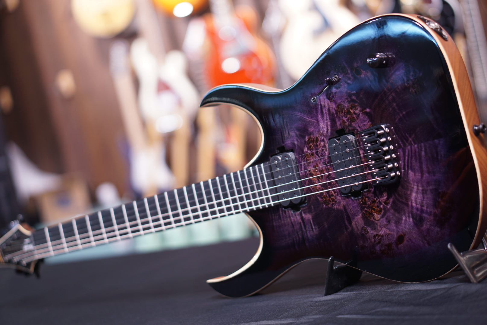 Mayones Duvell dirty purple eye burst eye poplar GLOSS HIENDGUITAR.COM - HIENDGUITAR.COM