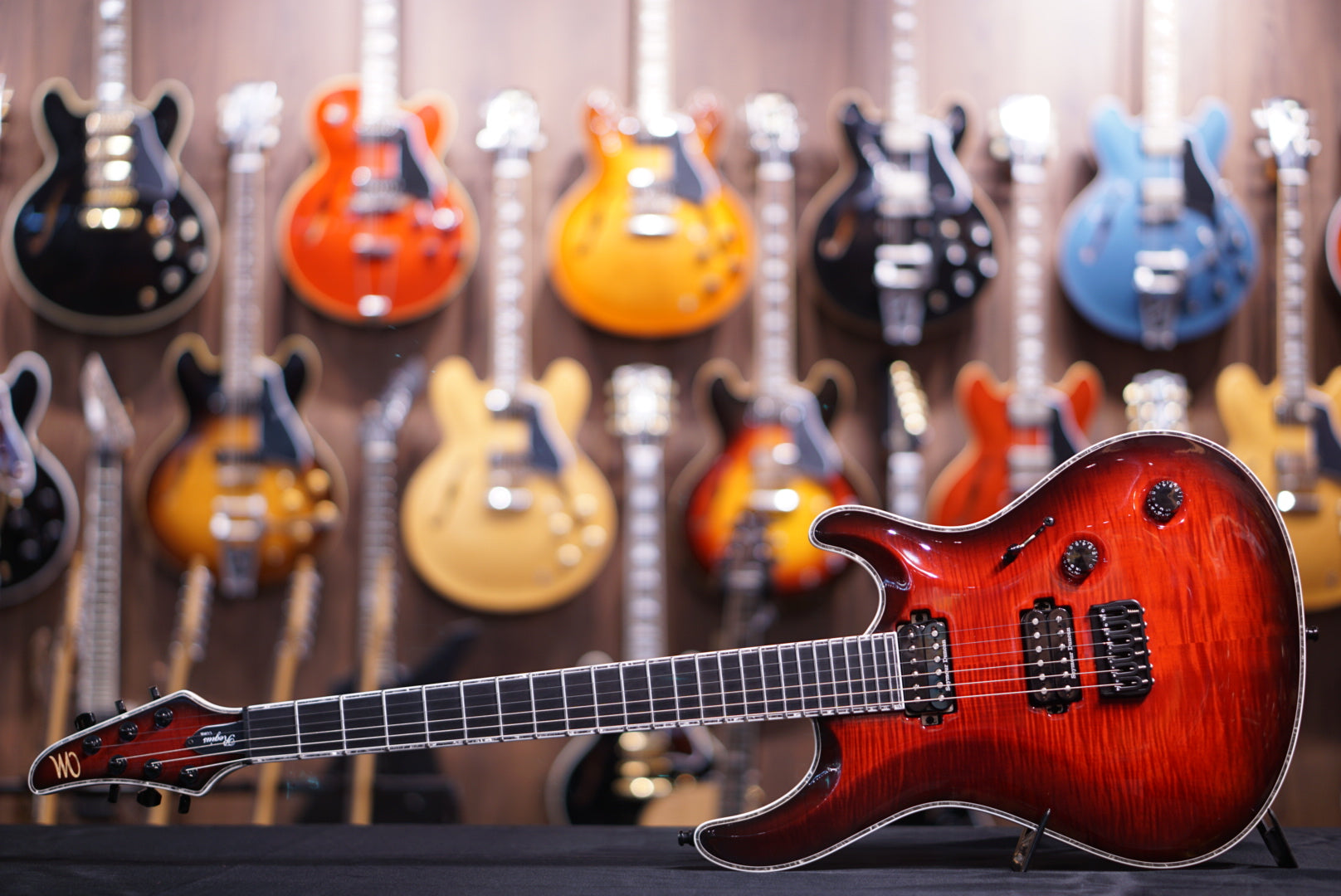 mayones regius core classic dirty red burst mayones - HIENDGUITAR.COM