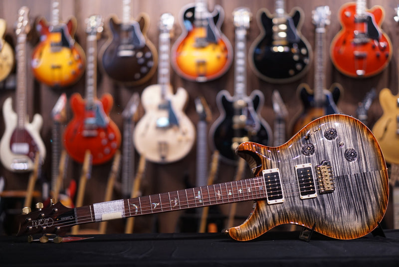 PRS Custom 24 piezo Hiend spec Burnt maple leaf 256144