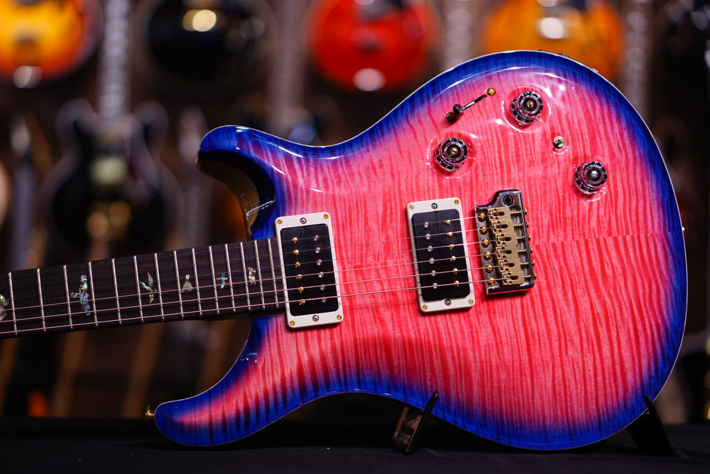 PRS Custom24 piezo Hiend spec Bonnie pink w royal blue burst