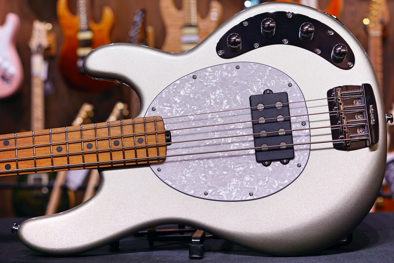 Ernie Ball Music Man StingRay Special 4 H Bass Guitar - Ghostwood F90152