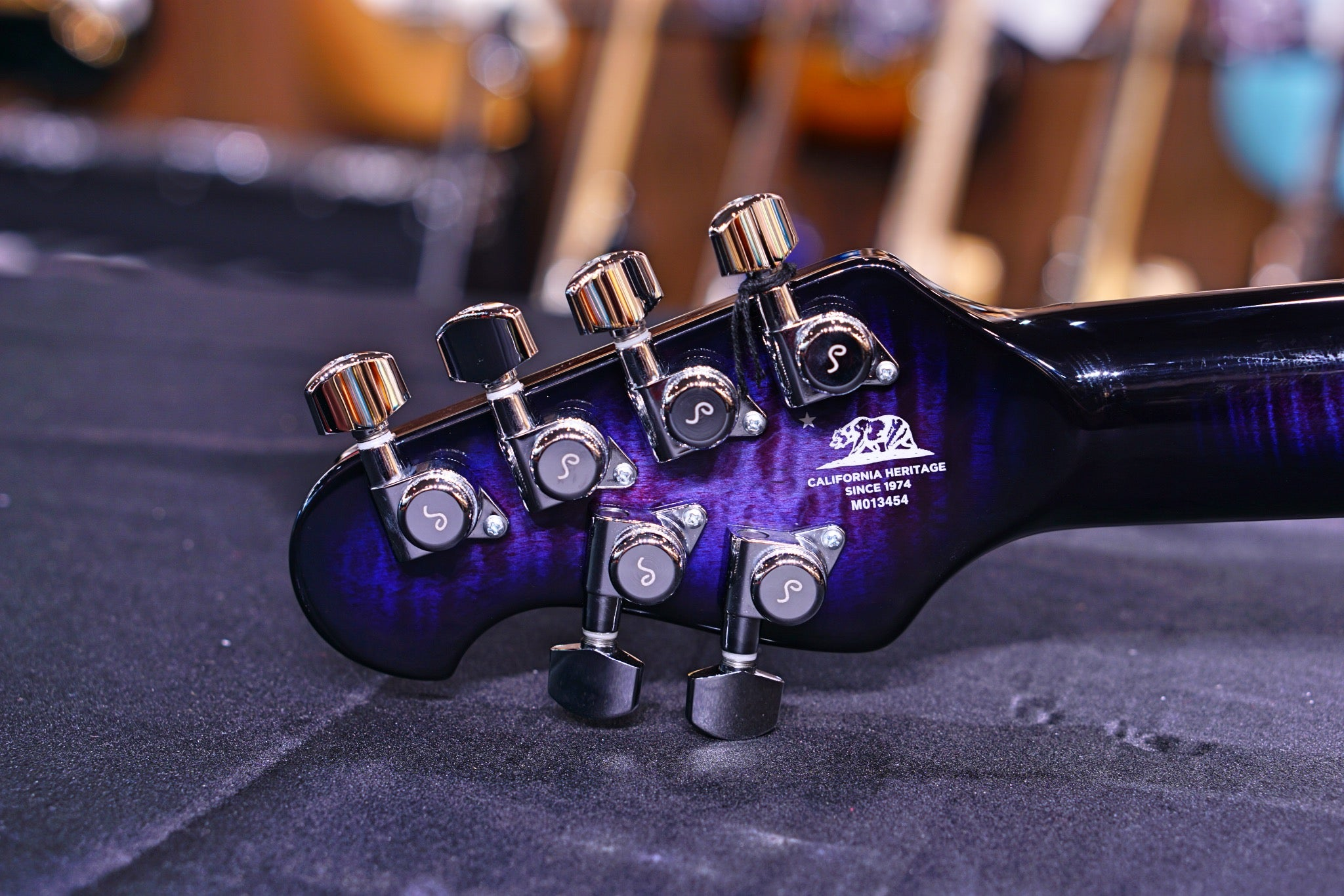 Ernie Ball Music Man Majesty John Petrucci Signature Electric Guitar - Purple Nebula M013454 - HIENDGUITAR   Musicman GUITAR