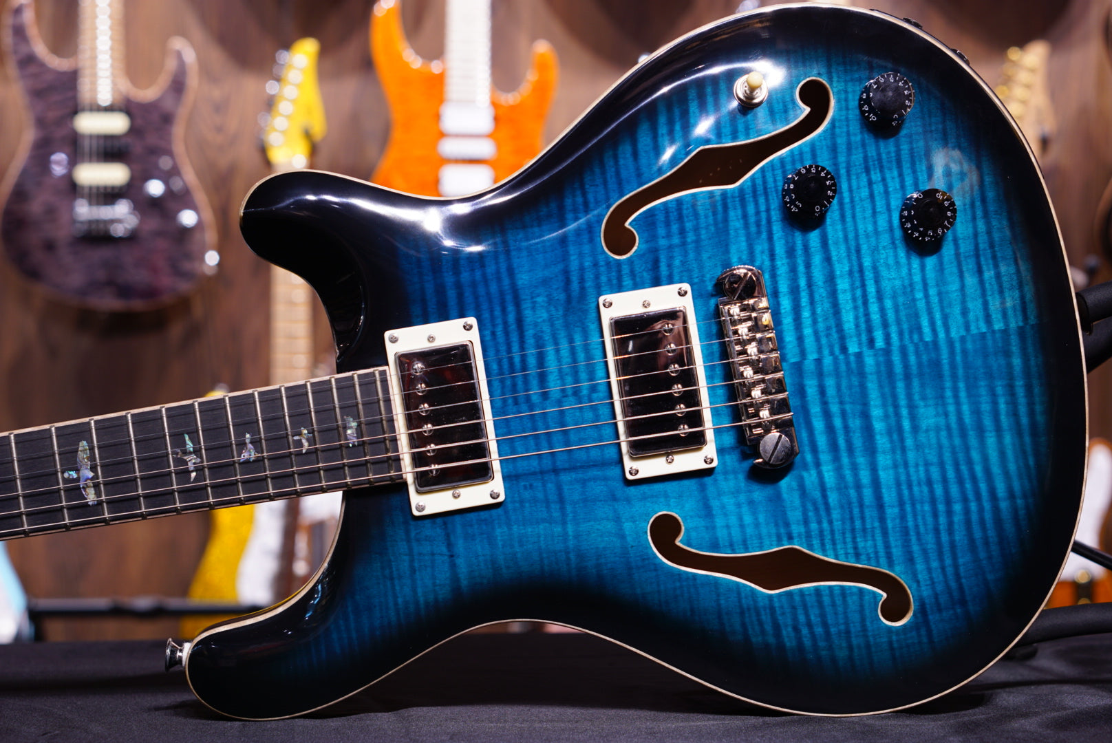 PRS SE Hollowbody II Piezo - Peacock Blue