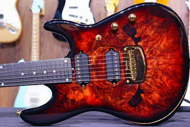 Ernie Ball Music man Cutlass HH Trem - 7 String - Jason Richardson - Rorschach Red - S03944 - HIENDGUITAR   Musicman GUITAR