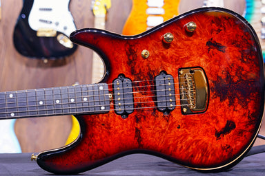 Ernie Ball Music man Cutlass HH Trem - 6 String - Jason Richardson - Rorschach Red S06014 - HIENDGUITAR   Musicman GUITAR